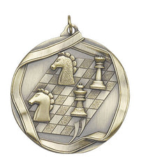 Ribbon Series Sport Medals - 2 1/4 inch  Medal with ribbon  - Chess