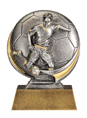 Motion Xtreme Icon Male Soccer 5 inch Resin Sculpture