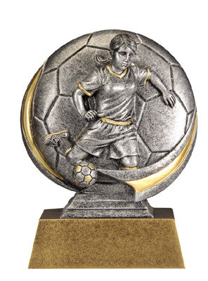 Motion Xtreme Icon Female Soccer 5 inch Resin Sculpture