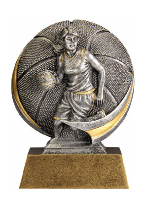 Motion Xtreme Icon Female Basketball 5 inch Resin Sculpture