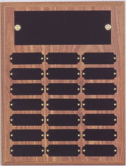 Perpetual 21 Plate Plaque 9 inch x 12 inch Black or Satin