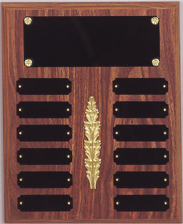 Perpetual 12 Plate Plaque 10-1/2 inch x 13 inch  Black or Satin