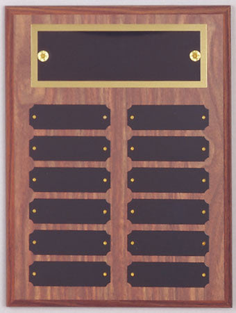 Perpetual 12 Plate Plaque 9 inch x 12 inch
