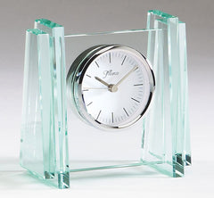 Glass Clock 5 inch x 5 inch