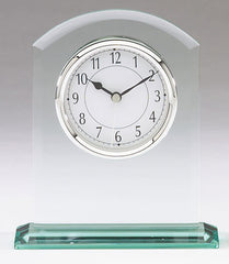 Glass Clock 6-1/2 inch x 4-3/4 inch