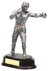 Male Boxer, Silver with Gold Trim 9-1/2 inch