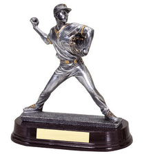 Baseball Pitcher Male 8 inch Silver/Gold