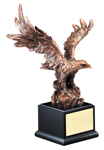 "Gallery Resin Eagle, 11 1/2"" Height, 8"" Wing Span"