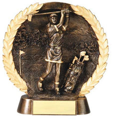 Female Golf High Relief Resin Plate 7-1/2  inch