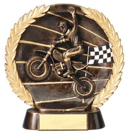 Motocross High Relief Resin Plate 7-1/2  inch