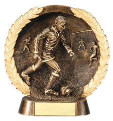 Male Soccer High Relief Resin Plate 5-1/2  inch or 7-1/2  inch