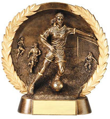 Female Soccer High Relief Resin Plate 5-1/2  inch or 7-1/2  inch