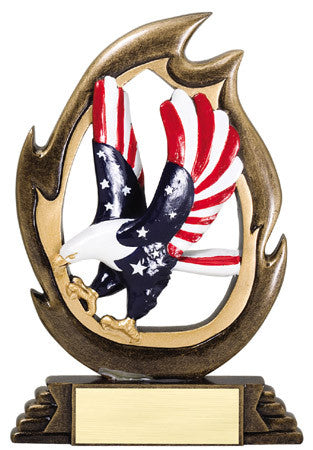 Flame Series Patriotism Resin 7-1/4 inch