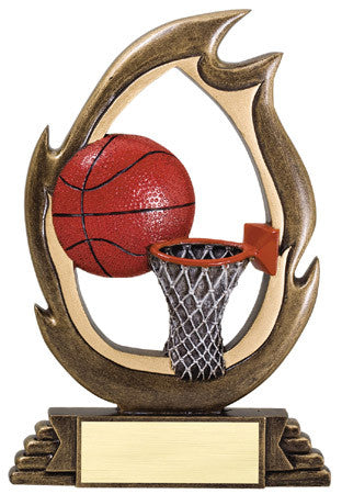 Flame Series Basketball Resin 6 or 7-1/4 inch