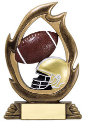 Flame Series Football Resin 7-1/4 inch