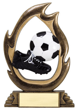 Flame Series Soccer Resin 6 or 7-1/4 inch