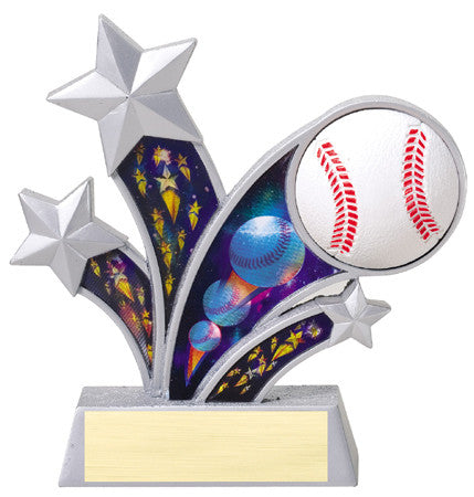 Rising Star Baseball Resin with 3D Motion Panels 6 inch