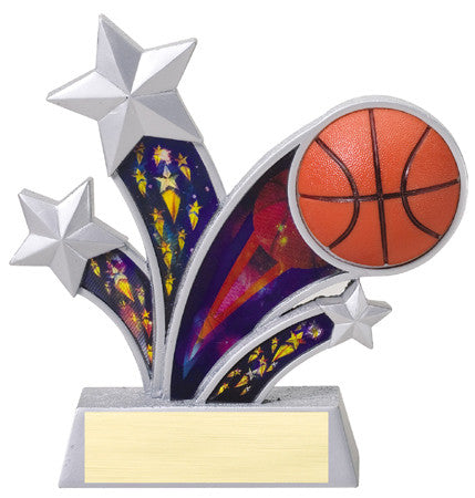 Rising Star Basketball Resin with 3D Motion Panels 6 inch