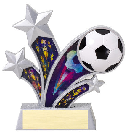 Rising Star Soccer Resin with 3D Motion Panels 6 inch