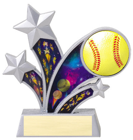Rising Star Softball Resin with 3D Motion Panels 6 inch