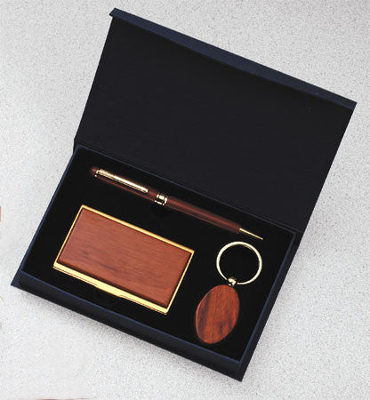 Rosewood Pen, Card Case, Keytag & Presentation Box