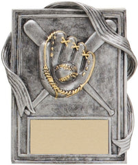 Baseball Plaque with Gold Trim, 6 inch
