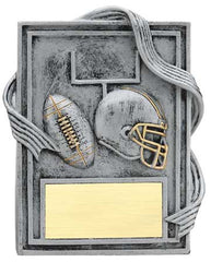 Football Plaque with Gold Trim 6 inch