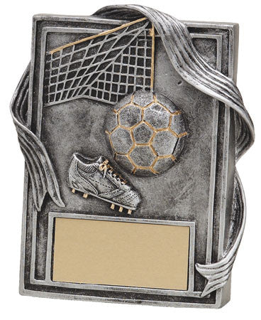 Soccer Plaque with Gold Trim, 6 inch
