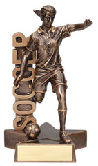 Billboard Series Female Soccer Resin 6-1/2  or 8-1/2  inch