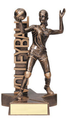 Billboard Series Female Volleyball Resin 6-1/2  or 8-1/2  inch