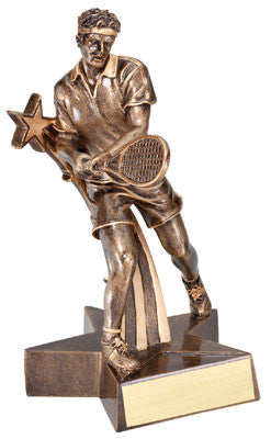Superstars Series Resin Male Tennis 6-1/2  or 8-1/2  inch