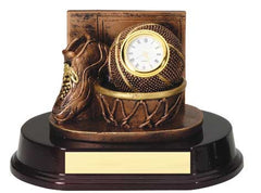 Basketball Sport Clock Bronze 5 inch