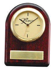 Piano Finish Rosewood Clock 4-1/2 inch x 6-1/2 inch