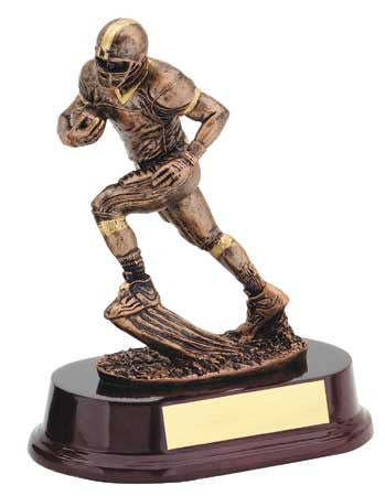 RX series - Male Football, Silver with Gold Trim 7 inch