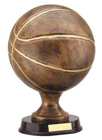 Basketball 12 inch , Bronze with Gold Trim