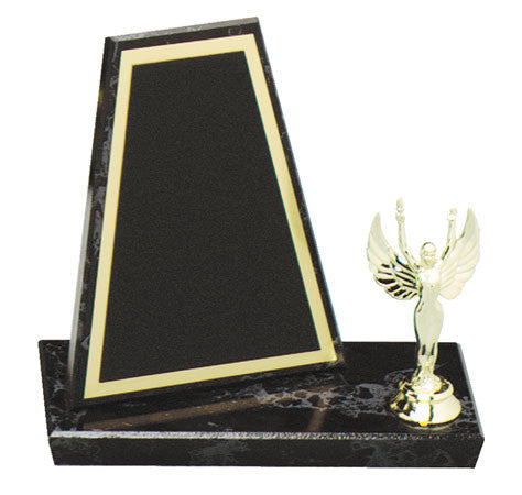 Black Marble Finish Tablet Plaque