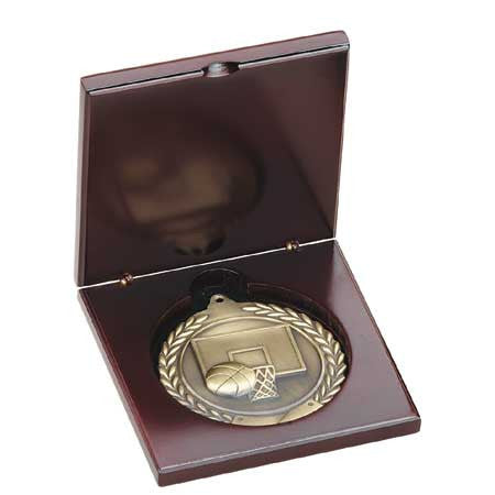 Wood Medal Box for 1 3/4, 2 or 2 3/4  inch medals