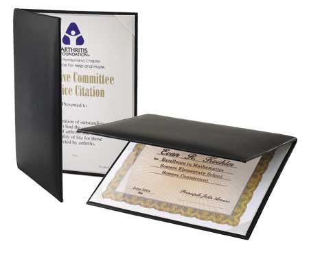 Padded Certificate Holder with Clear Acetate
