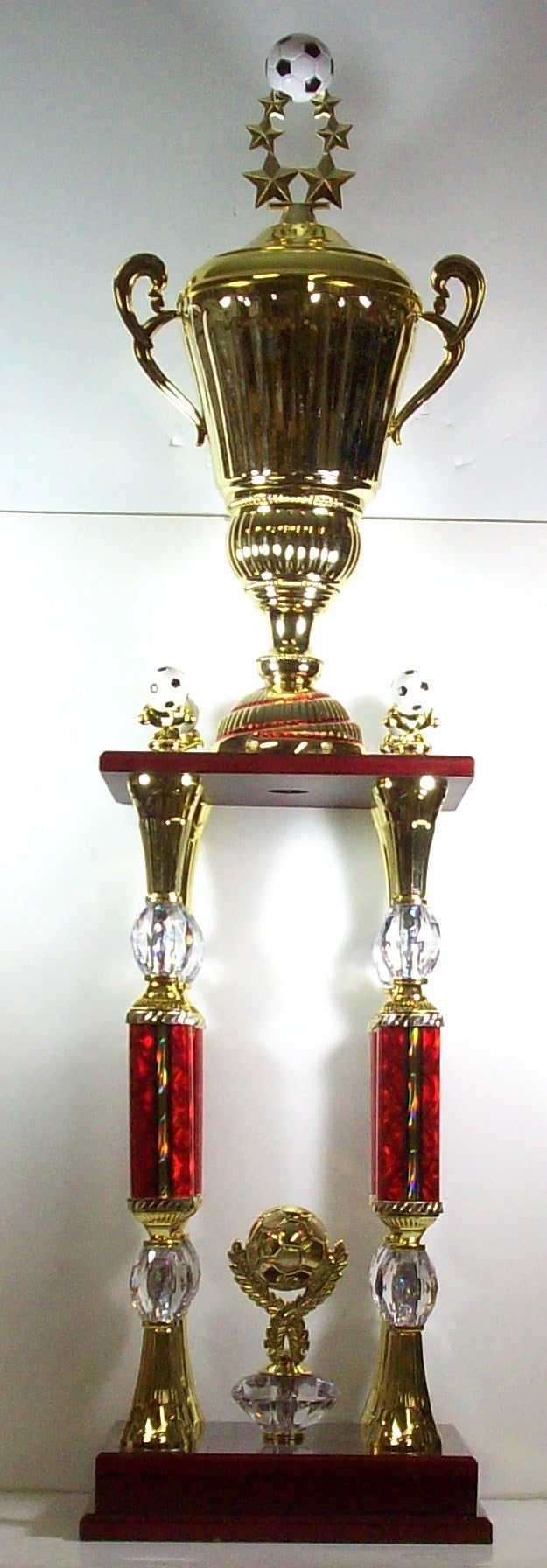 4 Post 44 inch Soccer Trophy