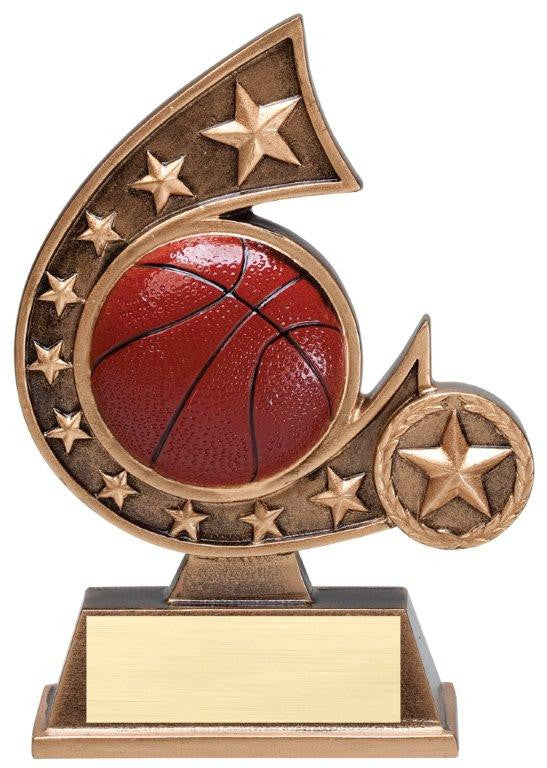 Resin  Comet  Series - High Relief  Resin Figures  5-3/4  inch  Tall  - Basketball