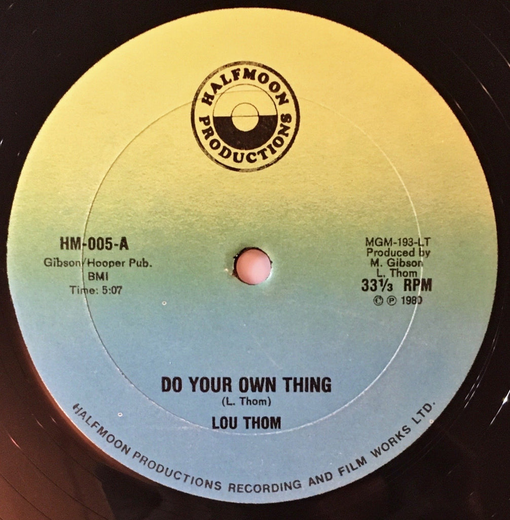 Lou Thom ‎– Do Your Own Thing - monads records