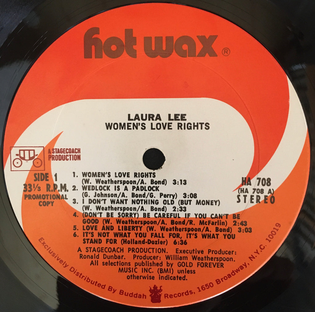 Laura Lee ‎– Women's Love Rights LP label image side 1