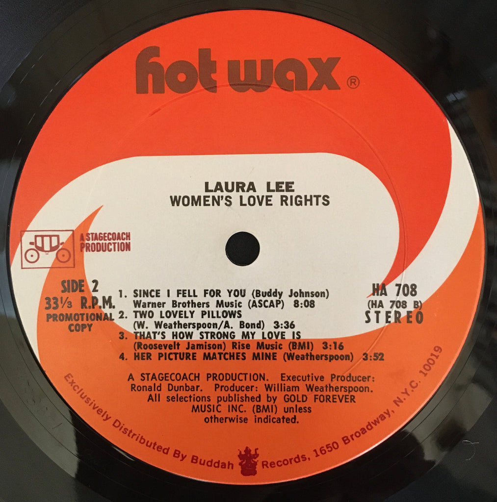 Laura Lee ‎– Women's Love Rights LP label image side 2