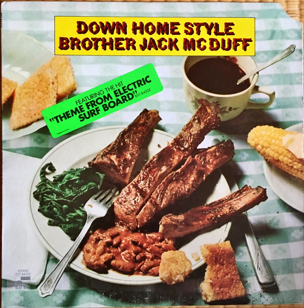 Brother Jack McDuff ‎– Down Home Style LP sleeve image front