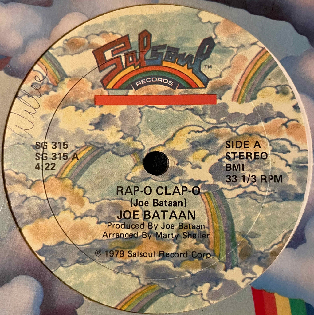 Joe Bataan ‎– Rap-O Clap-O 12inch single image front
