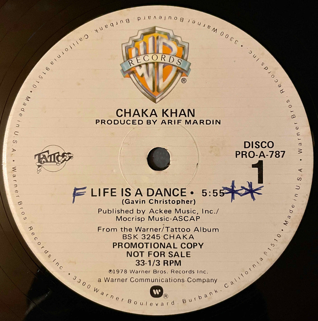 Chaka Khan ‎– Life Is A Dance / Some Love 12inch single image front