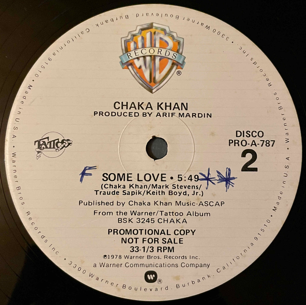 Chaka Khan ‎– Life Is A Dance / Some Love 12inch single image back