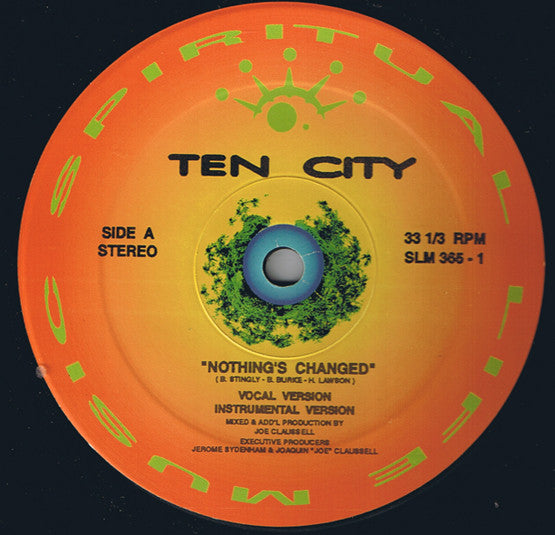 Ten City ‎– Nothing's Changed - monads records