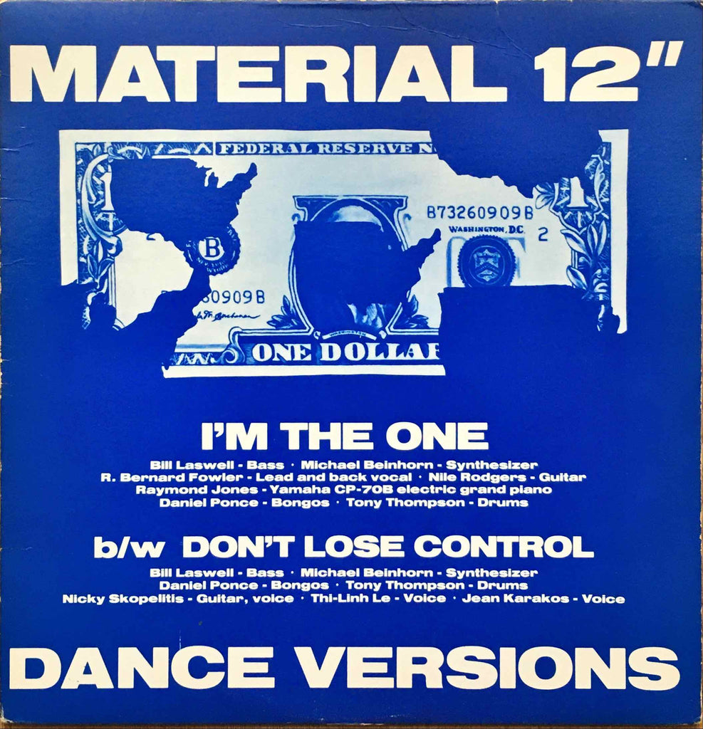 Material ‎– I'm The One-12inch single sleeve image front