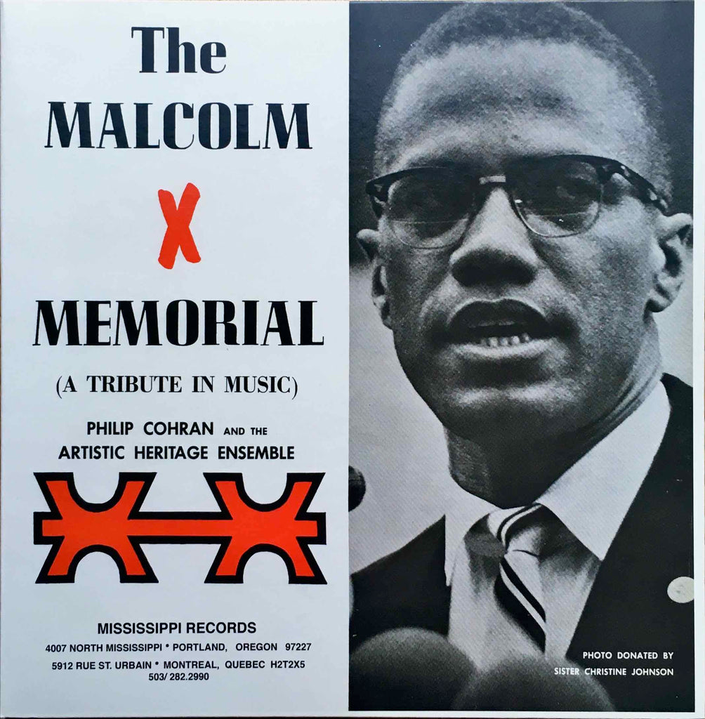Philip Cohran And The Artistic Heritage Ensemble ‎– The Malcolm X Memorial (A Tribute In Music)-LP sleeve image front